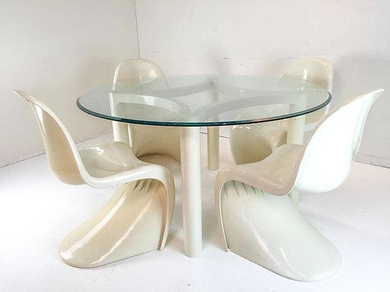 #1564 Vintage Panton Table & Chairs