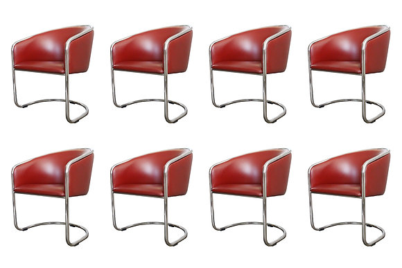 #1142 Set of 8 Thonet Cantilever Dining Chairs