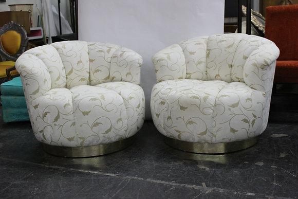 #8361 Pair Oversize Swivel Chairs