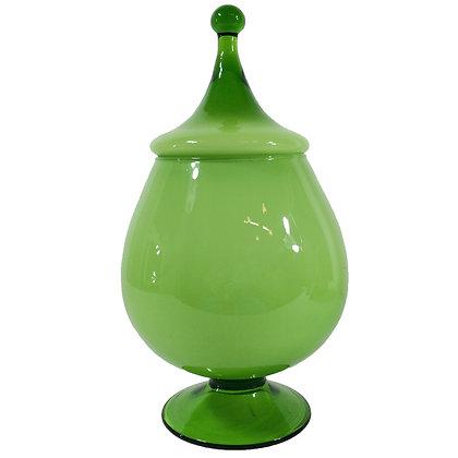 #5150 Green Empoli Lidded Jar
