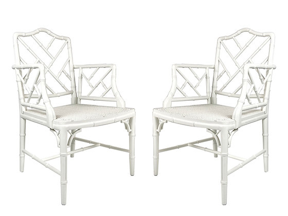#1644 Pair Chippendale Armchairs
