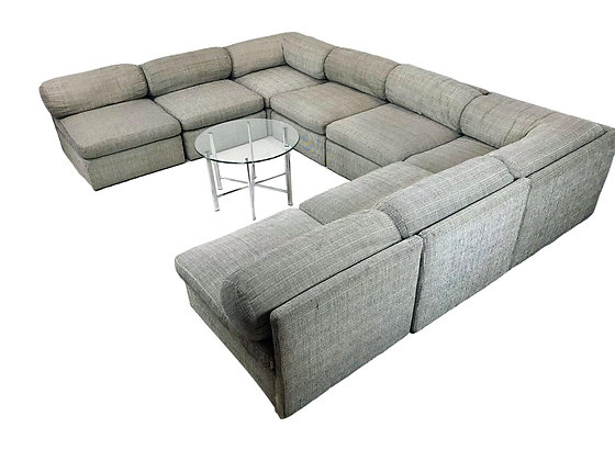 #5425 8 Piece Milo Baughman Sectional Sofa