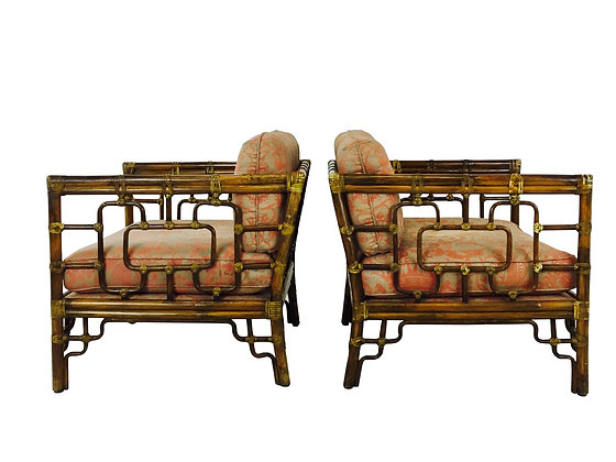 #2743 Pair of Vintage Marview Lounge Chairs by McGuire