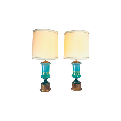 #4776 Hollywood Regency Lamps