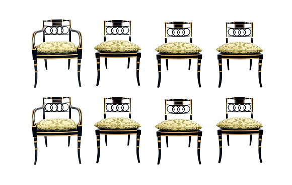 #5628 Set of8 Baker Charleston Collection Chairs
