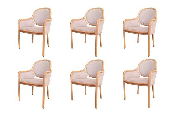 #1146 Set of 6 Brickell Chairs by Ward Bennett