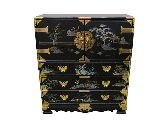 #8704 Hand-Painted Asian Style Chest