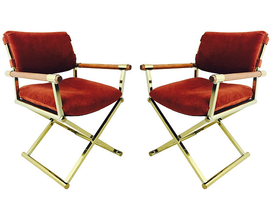 #2999 Pair Brass Directors Chairs