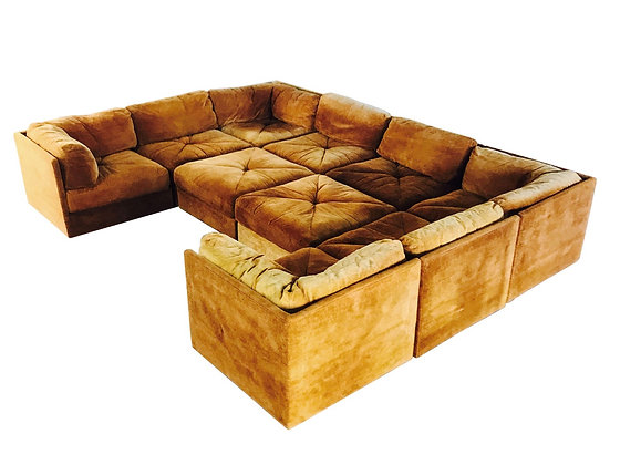 #3073 Ten Piece Sectional Pit Sofa by Milo Baughman for Selig