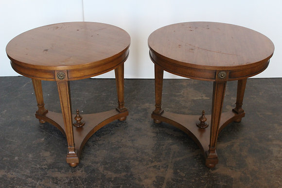 Pair Round Side Tables