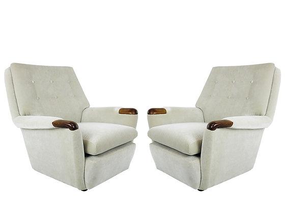 #2539 Pair Vintage Italian Lounge Chairs