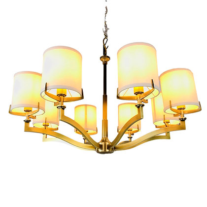 #5614 Craftmade Transitional 8 Light Chandelier (2 Available)
