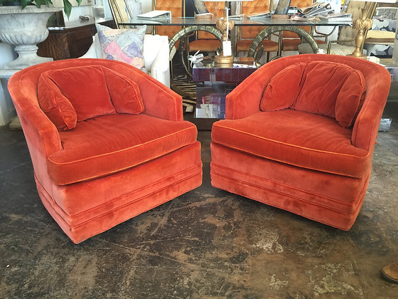 #1127 Pair Henredon Chairs
