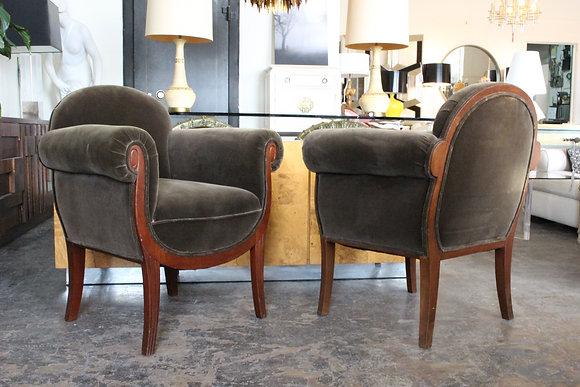 #1238 Pair Petite Art Deco Chairs