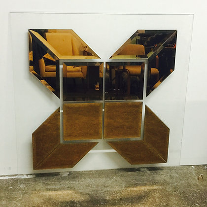 8376 Bronze X Mirror on Lucite