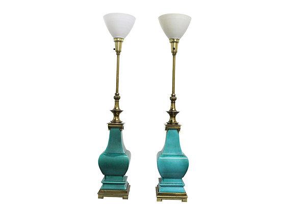 #2513 Pr Porcelain Glazed Stiffel Lamps