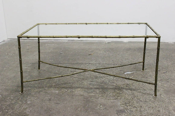 #7388 French Brass Faux Bamboo Cocktail Table