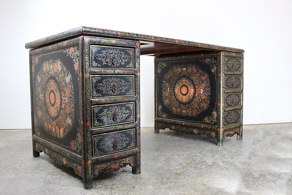 #1508 Elegant Asian Lacquered Desk