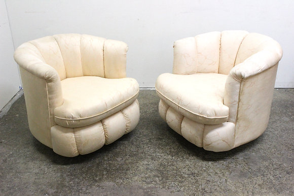 #1133 Pair 80s Swivel Chairs