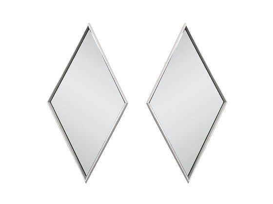 #3106 Pair Diamond Shaped Mirrors