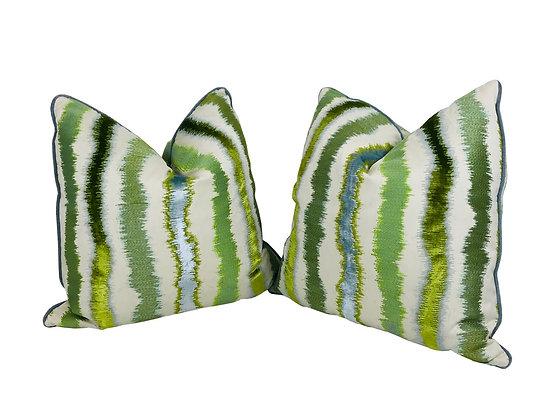 #3835 Single 22x22 Brunschwig & Fils Pillows (4 Pillows Available)