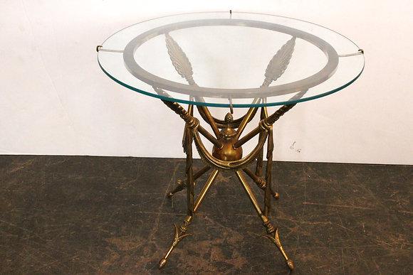 #1221 1970s Gueridon Arrow Side Table