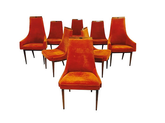 #2165 Set of 8 Adrian Preasall Dining Chairs