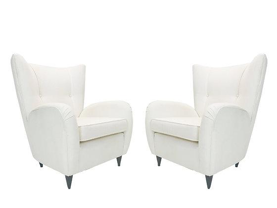 #3821 Pair of Italian Armchairs by Paolo Buffa