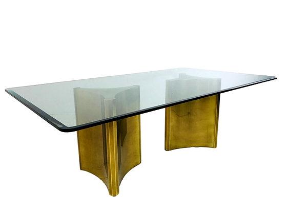 "#5325 Mastercraft ""Trilobi"" Brass Pedestal Table"