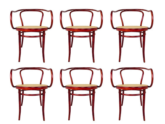 #3626 Set of 6 Bent Wood Armchairs by Thonet