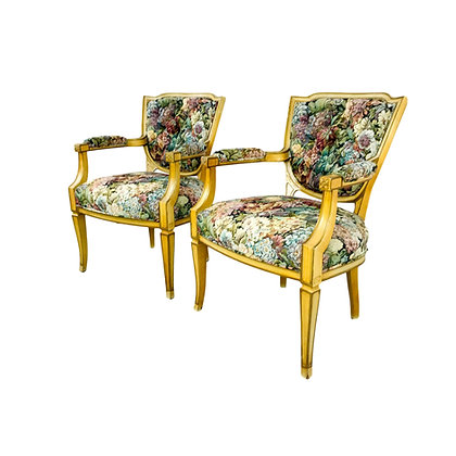 #5286 Pair of French Wood Armchairs
