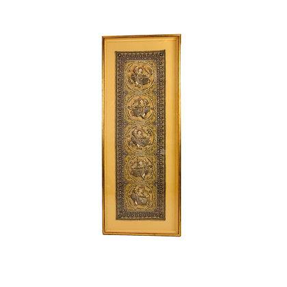 #5424 Framed Burmese Kalaga Tapestry
