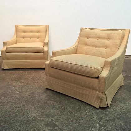 #6215 Pair Gold Regency Chairs