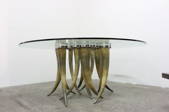 #8847 Tusk Horn Dining Table