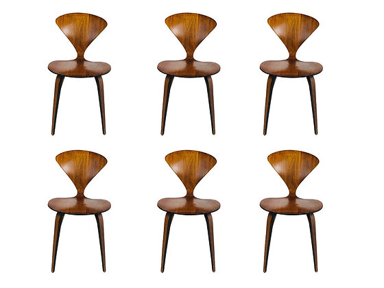 #4017 Set of Six Cherner Dining Chairs for Plycraft