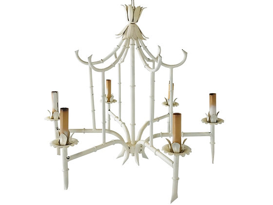 #3685 Chippendale Faux Bamboo Birdcage Chandelier