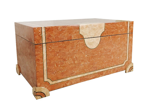 #2692 Tessellated Stone Trunk/Table by Maitland Smith