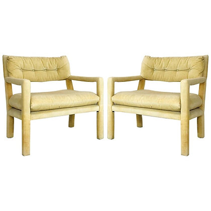 #4789 Pair of Milo Baughman Style Parsons Chairs