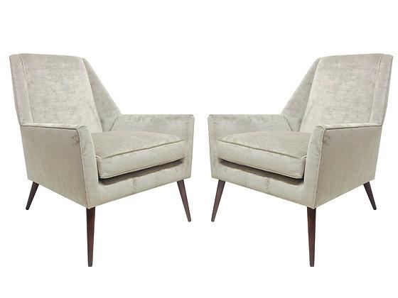 #7369 Pr Rare Paul McCobb Lounge Chairs