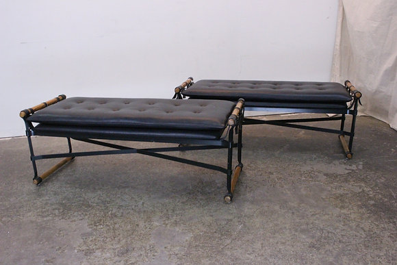 #1400 Pair Cleo Baldon Campaign Benches