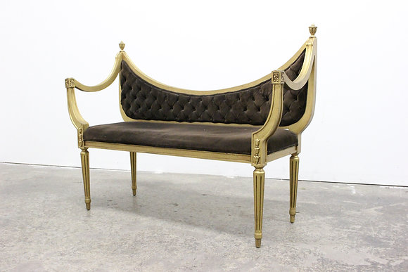 8511 Gilded French Settee