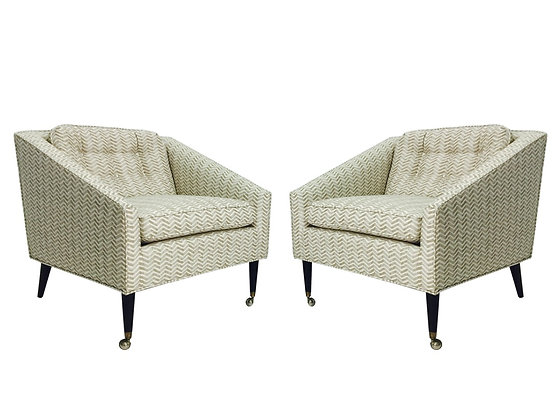 #1201 Pair Milo Baughman Armchairs for James Inc.