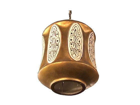 #2628 Gold Ceramic Pendant