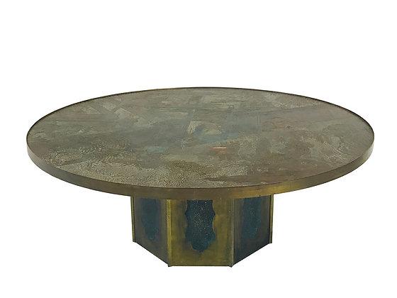 #3517 Philip & Kelvin Laverne Coffee Table, Signed