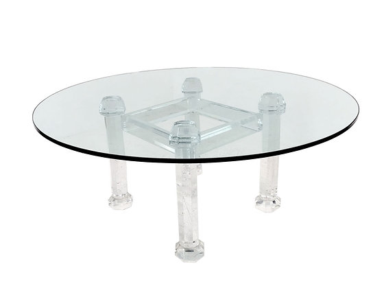 #4154 Allan Knight Lucite Dining Table