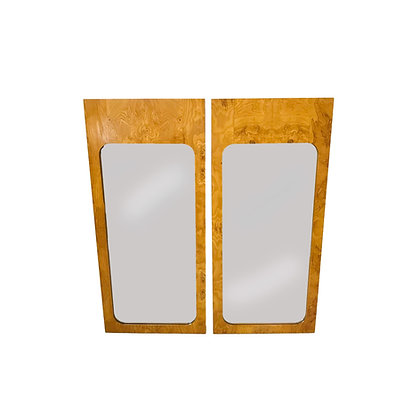 #5376 Pair of Milo by Lane Burl Wood Mirrors
