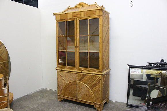#668 Reeded Bamboo Hutch