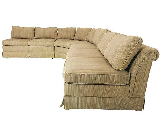 #4041 Baker 3 Piece Mid-Century Slipper Sofa