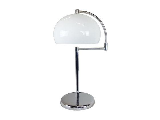 #2228 Nickel & Lucite Mushroom Lamp