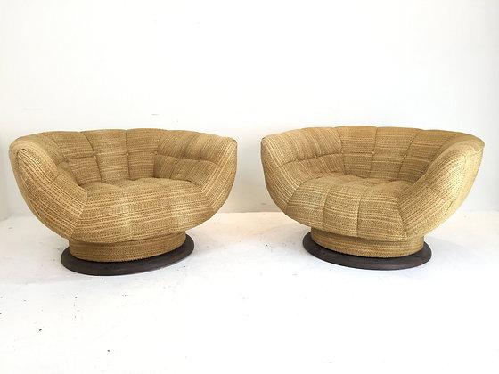 #1732 Pair of Rare Adrian Pearsall Swivel Chairs